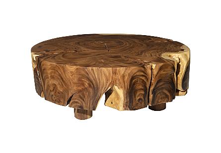 Chamcha Wood Coffee Table Round