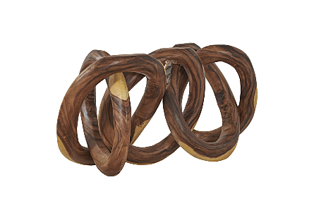 Intertwined Sculpture Chamcha Wood