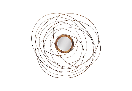 Nest Mirror Chamcha Wood/Wire, Copper, LG