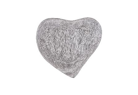 Heart Wall Tile Chamcha Wood, Grey Stone