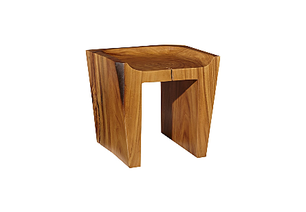 Tapered Chamcha Wood Stool Natural