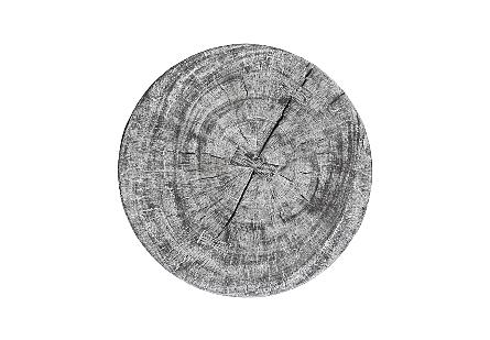 Chamcha Wood Hour Glass Side Table Grey Stone
